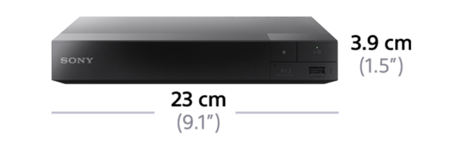 Dimensiones de DVD player reproductor de Blu-ray Disc BDP-S1500