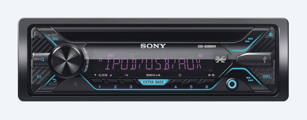 Imágenes de Radio para auto de CD y display multicolor